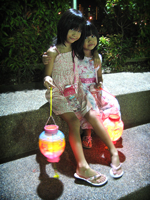 Girls with lanterns